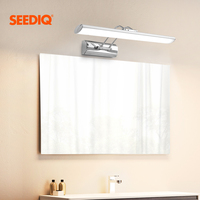 현대 Led 미러 빛 벽 램프 욕실 12W 42CM AC 90-265V 스테인레스 스틸 방수 Led 벽 조명기구 허영 빛