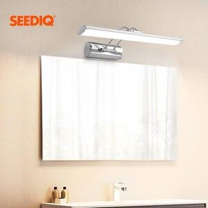 Image 1 - מודרני Led מראה אור קיר מנורת חדר אמבטיה 12W 42CM AC 90 265V נירוסטה עמיד למים Led קיר אור קבועה יהירות אור