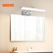 Modern Led Mirror Light Wall Lamp Bathroom 12W 42CM AC 90 265V Stainless steel Waterproof Led Wall Light fixture Vanity Light