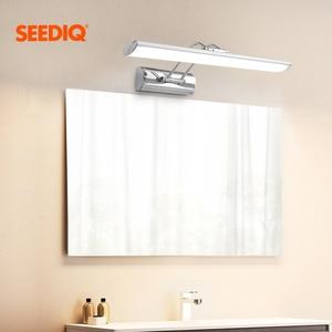 Image 1 - Nowoczesne oświetlenie lustra Led kinkiet łazienka 12W 42CM AC 90 265V ze stali nierdzewnej wodoodporne oświetlenie naścienne Led lampka na toaletkę