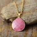 Классическое модное ожерелье из натурального камня с каплевидной подвеской, Уникальные ожерелья из родонита и лазурита, ювелирные изделия,...
