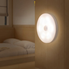 LED Motion Sensor Light Night Light USB Rechargeable Sensor Wireless Energy-saving Bedroom Cabinet Light Body Induction Lamp