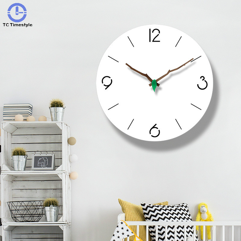 Japanese Wall Clock Bedroom Simple Modern Home Quiet Living Room Watch Quartz Circular Decoration Hanging Silent Personality|Wall Clocks| |  - title=