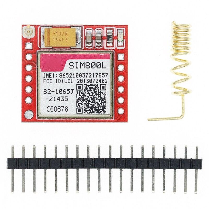 1 pces menor sim800l gprs gsm módulo placa de núcleo cartão microsim quad band ttl porta serial|Circuitos integrados|   -
