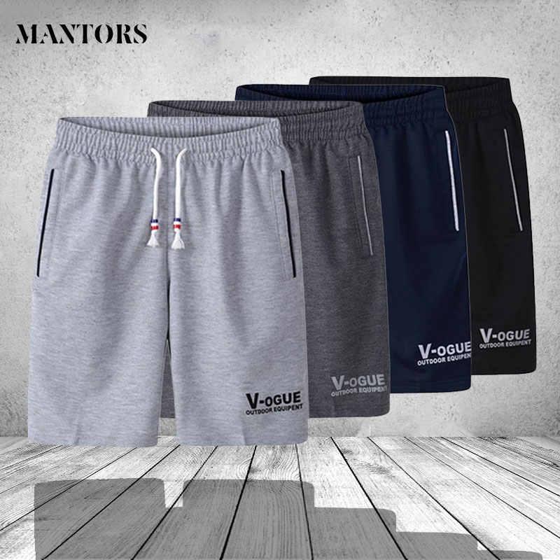 Pantalones cortos de verano a la moda de marca Bermudas respirables para hombre, pantalones cortos casuales cómodos de talla grande para Fitness, pantalones cortos de culturismo para hombre