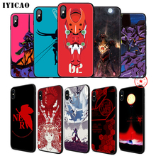 IYICAO Genesis Evangelion Anime Soft Phone Case for iPhone 11 Pro XR X XS Max 6 6S 7 8 Plus 5 5S SE Silicone TPU