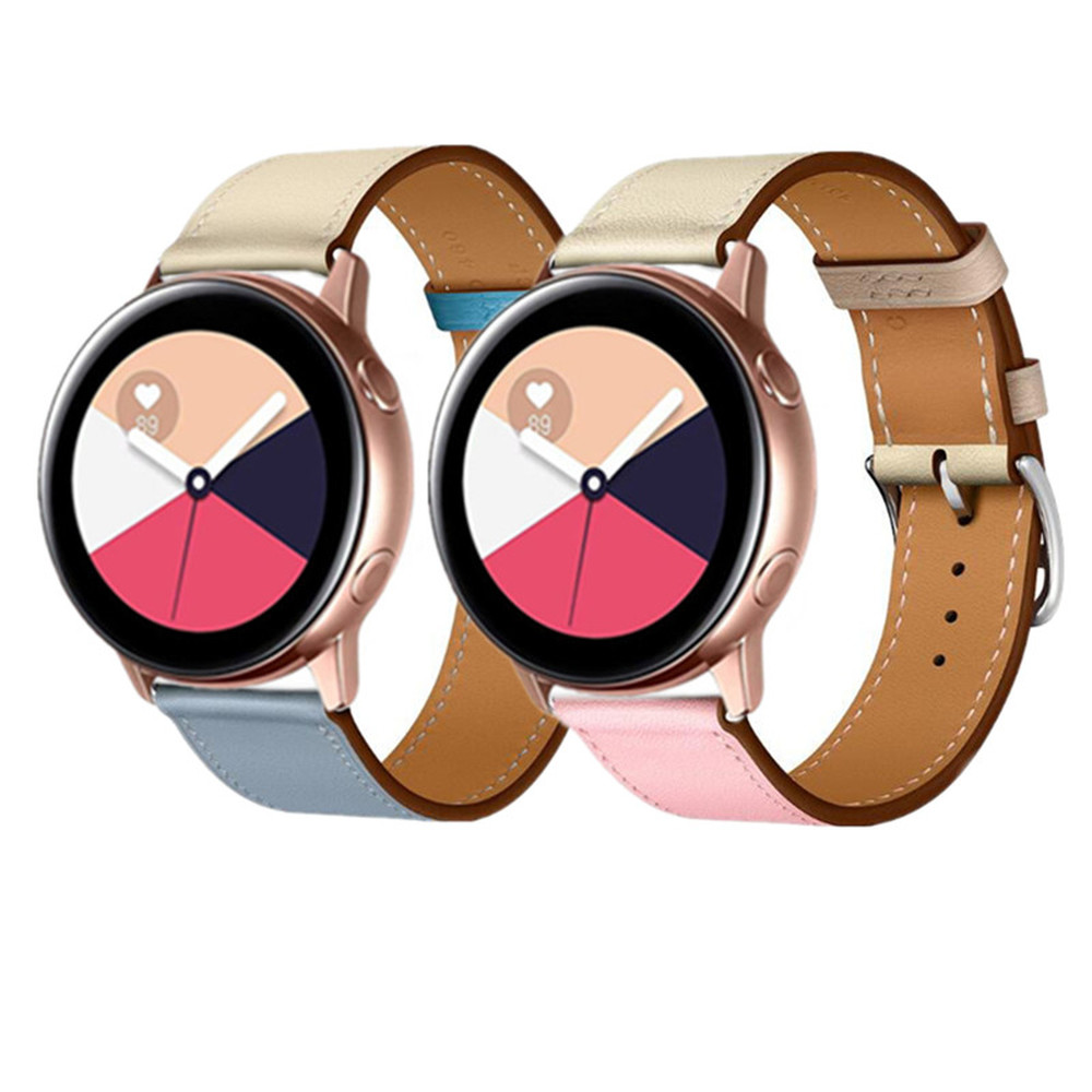 Leather Strap For Samsuang Gear S3 S2 Sport 20mm 22mm Watchband For Huami Amazfit Bip Huawei Gt 2 Galaxy Watch Active 42mm 46mm