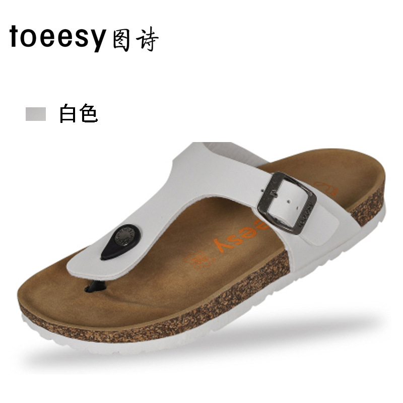 2020 New Style Cork Flip-flops Men And Women Couples Flip-flops Birkenstock Flip-flop Sandals Bockenheim Large Size