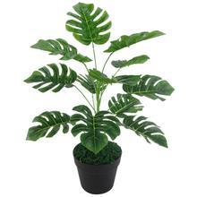 12 Heads Green Artificial Monstera Leaves Plant Wedding Party Table Home Decor House Balcony Lifelike bonsai garden room