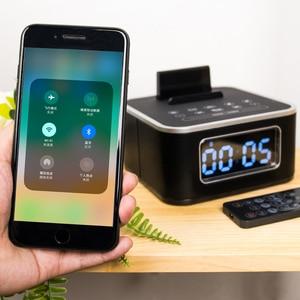 Image 4 - Homtime – réveil avec haut parleur Bluetooth, caisson de basses, Radio dappel sans fil, pour maison, hôtel, chevet, téléphone portable