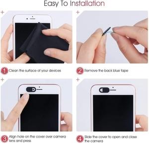 Image 5 - WebCam Cover Shutter Magnet Slider Universal Antispy Camera Cover For Web Laptop iPad PC Macbook Tablet lenses Privacy Sticker