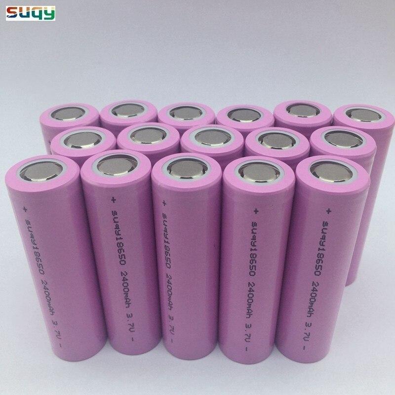 Suqy nouveau 18650 2400mah 18650 li-ion batterie 18650 batteries rechargeables Avec Chargeur 18650 Rechargeable bateria 12-40 pièces