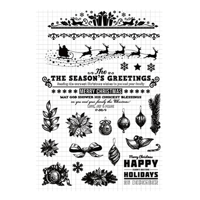 Christmas Transparent Clear Silicone Stamps for DIY Scrapbooking//Card Making   R