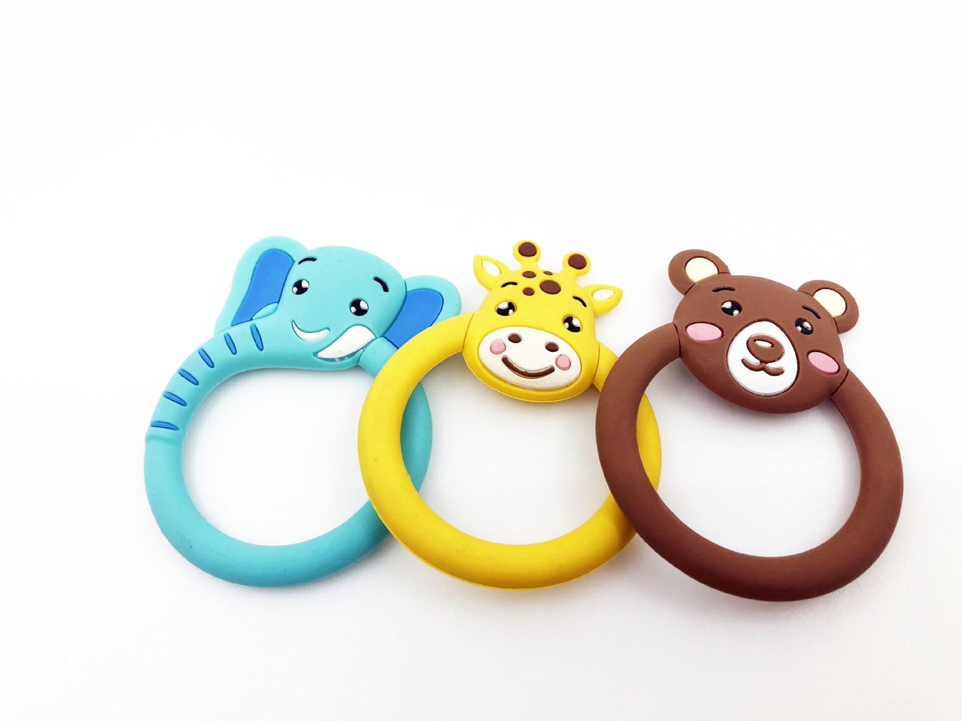 Детский Прорезыватель для зубов, мультяшный Прорезыватель для зубов, Силиконовые бусы, не содержат Бисфенол А игрушки