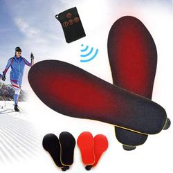 1800mAh Wireless Control Electric Heating Thermal Insoles Winter Warm Velvet Increase Heated Insoles for Men Women Shoe Pads