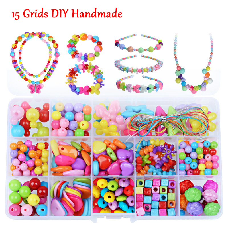 Hot Sale Baby Beads Toys For Children Girl Gift Educational Toy Necklace Bracelet For Jewelry Needlework Material Bead Set