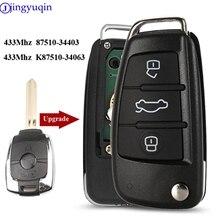 jingyuqin 433mhz Remote Car Key Control For SsangYong Actyon Kyron Rexton Korando K87510-34403 K87510-34063