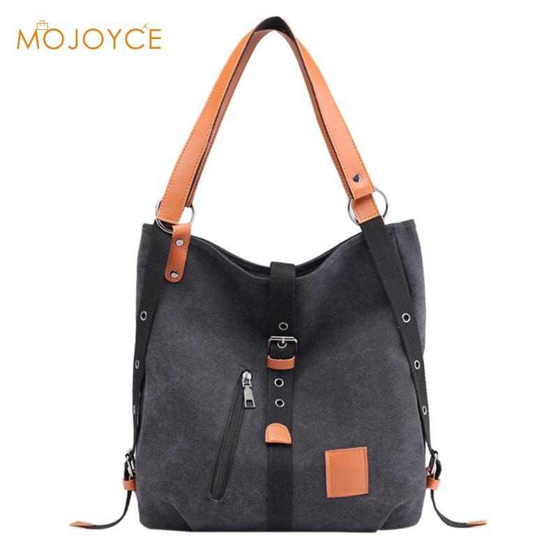 Women Canvas Casual Shoulder Bag Travel Handbag Ladies Zipper Large Capacity Crossbody Messenger Bag Bolsa Feminina