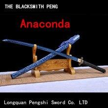 Lame de samouraï Ninja en acier au carbone, haute performance, anacunda, katana japonais, épée chinoise, machette, tueur de démons, dao jian