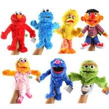 Original Sesame Stree Puppet Cute Elmo CookieMonster Oscar Sesame Street Soft Plush Toy Hand Puppet Doll 30/35cm