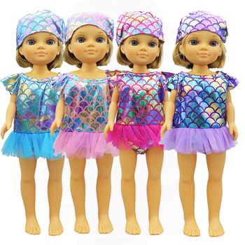 New Swimsuit + hats Doll Clothes For FAMOSA Doll and Nancy Doll Accessories image
