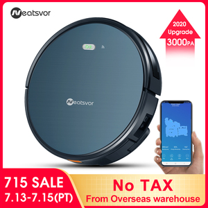 NEATSVOR X500 1800PA Robot Vacuum Cleaner,3in1 Wet Dry Mop,Map Navigation,Smart Memory,sweeping robot ,wireless robot aspirador(China)