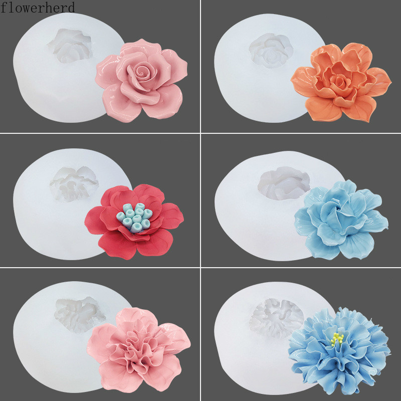 3d Flower Crystal Silicone Mold Valentine Rose Chocolate Mold Cake Decoration Handmade Soap Mold Aroma Baking Mold Candle Mold