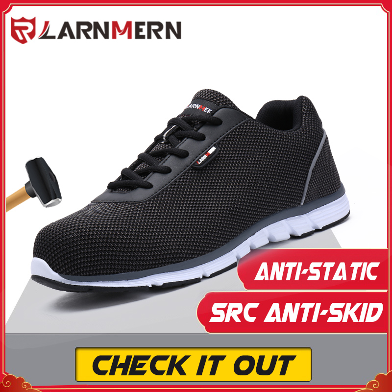 LARNMERN Work-Shoes Non-Slip Lightweight Anti-Smashing-Src Reflective Steel-Toe Comfortable