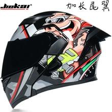Flip-Up Helmet Motor-Cycle JIEKAI Full-Face Double-Visor-Dot Casque Safe 902 Four-Seasons