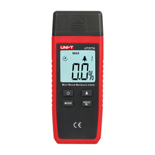 UNI-T Two Pins Digital Wood Moisture Meter Hygrometer Humidity Tester Timber Damp Detector Large LCD Display