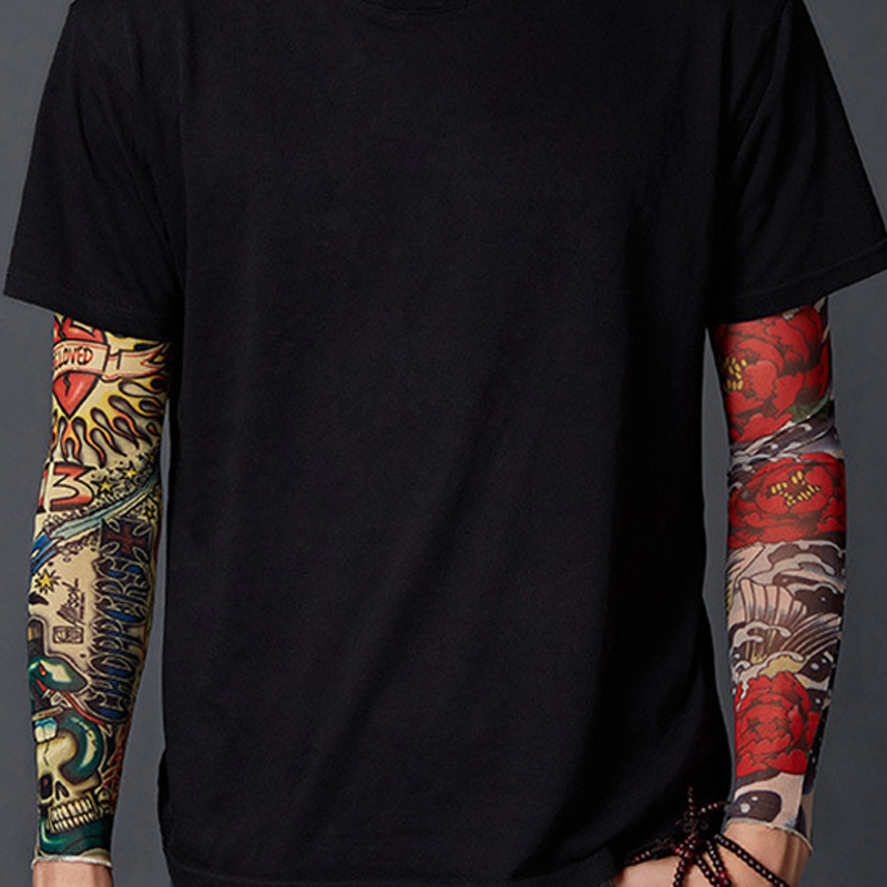 Tattoo Sleeve For Men UV Protection Cooling Or Warmer Sleeves Arms Sunblock Protective Gloves Running Golf Cycling Driving