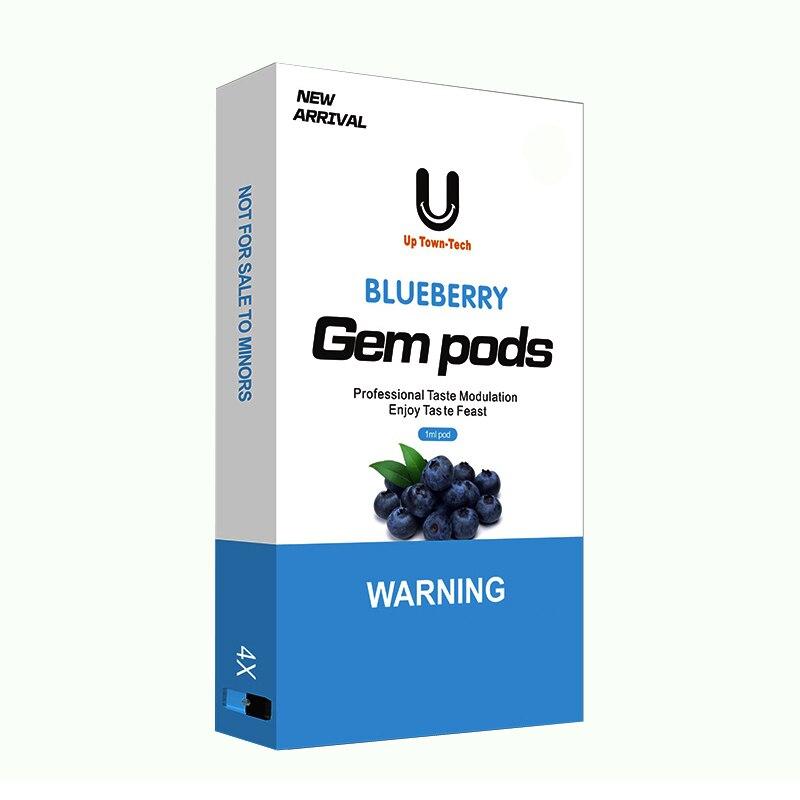 4Pcs Vape Pods 1.0ml Capacity Cartridge Pod 1.4ohm Coil Resistance Refillable Pod For Juul E-Cigarettes Starter Kit
