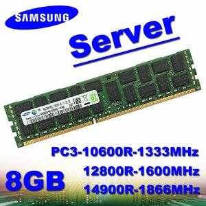 Samsung Серверная память DDR3 8 Гб 10600R 12800R 14900R REG ECC RAM pc3-1333MHz 1600 МГц 1866 МГц 4 ГБ 2 ГБ 16 ГБ 32 ГБ