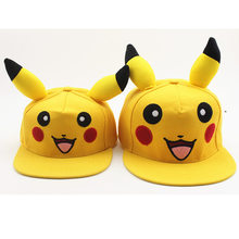 Anime Pokemon Pocket Monster Pikachu Cosplay Hut Frauen Mädchen Kawaii Demo Sonnencreme Leinwand Baseball Kappe Straße Reise Hüte Caps(China)
