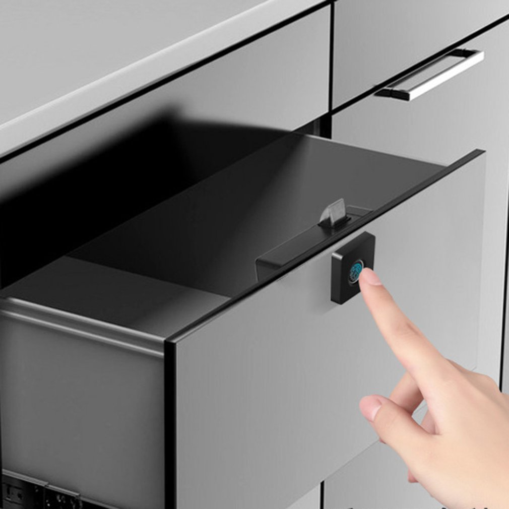 Smart Fingerprint Drawer Lock Furniture File Cabinet Lock Shoe Cabinet Letter Box Lock Fingerprint Drawer Lock