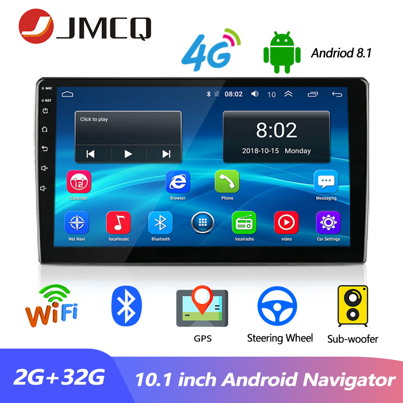 JMCQ Car Radio 2 Din Android 8.1 Universal Player GPS Navigaion 7/10.1