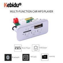 Mini 12V Mobil MP3 Pemain MP3 Modul Bluetooth V5.0 Mp3 Decoder Papan Panel Mobil Radio Handsfree Nirkabel FM Modul dukung Kartu TF(China)
