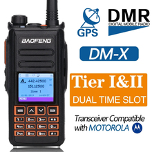 BaoFeng DM X DMR GPS cyfrowe Walkie Talkie VHF UHF Dual Dand 136 174 i 400 470MHz podwójny czas gniazdo Ham dwukierunkowe Radio