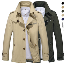 2020 Mens Autumn Business Casual Jacket male Outdoor long lapel Windbreaker Lightweight Jackets men's Trench Coat brand Clothing