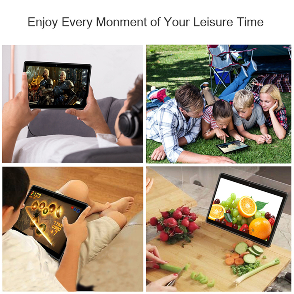 ZONKO Android 9.0 Tablet 10 inch 3G Phone Call Tablet PC Quad-Core WiFi Tablets GPS 2GB RAM 32GB ROM 1280*800 IPS Google Play