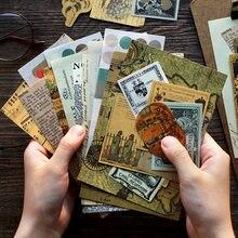 40 Uds serie renacimiento diario cuarderno de recortes con pegatinas decorativas palo etiqueta diario papelería álbum pegatinas