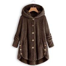 Newly Winter Women Warm Fluffy Coat Overcoat Button Jackets Tops Outwear Loose Sweater m99