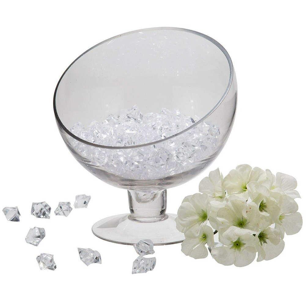 100 ชิ้น/ล็อตคริสตัล ICE ROCK หินอะคริลิคใสแจกันเพชรอัญมณีไม่สม่ำเสมองานแต่งงาน Decor Confetti ตารางกระจัดกระจายลูกปัด