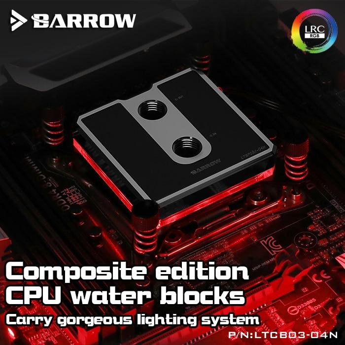 Bloc CPU de brouette pour Intel LGA-115X LRC2.0 5V 3Pin D-RGB haute densité Jet Micro-voie d'eau refroidissement par eau nouveauté LTCP03-04N