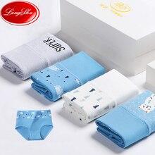 Plus Size 5XL High Waist Women Panties Cotton Fashion Ladies Underwear Seamless Briefs Female Breathable Print Lingerie 4Pcs/set