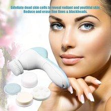 Электрическая Мойка для лица 5 в 1, устройство для очищения пор и лица, мини-косметический Массажер для кожи и кисти, хит продаж