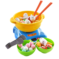 35Pcs Kids Kitchen Toy Set Chopsticks Hot Pot Simulation Home Kitchen Learning Activities Toy Role Playing Educational Toys