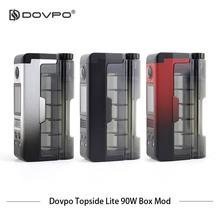 Oryginalny Dovpo Topside Lite 90W Squonk Mod zasilany pojedynczą baterią 18650 20700 z gwintem 510 z dolnym wypełnieniem RDA tanie tanio Przechowywanie akumulatora Box Dovop Topside Lite Mod 5-90W 0 96 inch OLED Screen