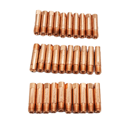 10 Pc/set Tip Gas Nozzle MB-15AK M6*25mm Welding Torch Contact Contact Tip Gas Nozzle 0.8/1.0/1.2mm