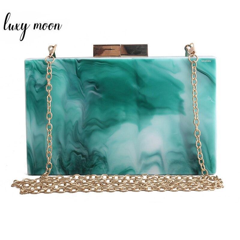 Green Acrylic Clutch Bag Women's Evening Clutch Wedding Purse Luxury Women Mini Handbag Banquet Party Shoulder Bag ZD1538